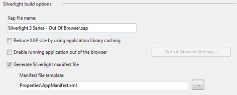 Enable running application out of the browser